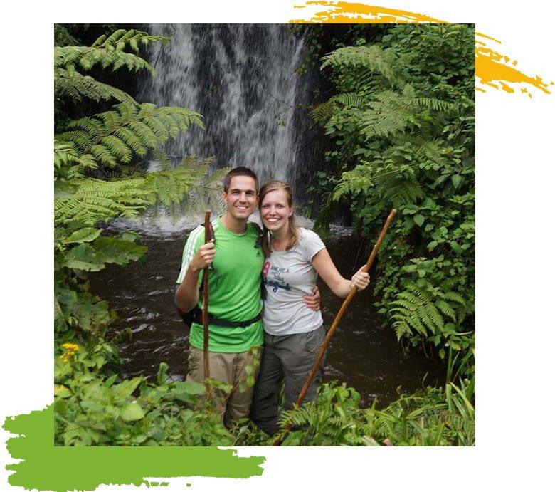 Suma Waterfalls in Bwindi Near Nkuringo