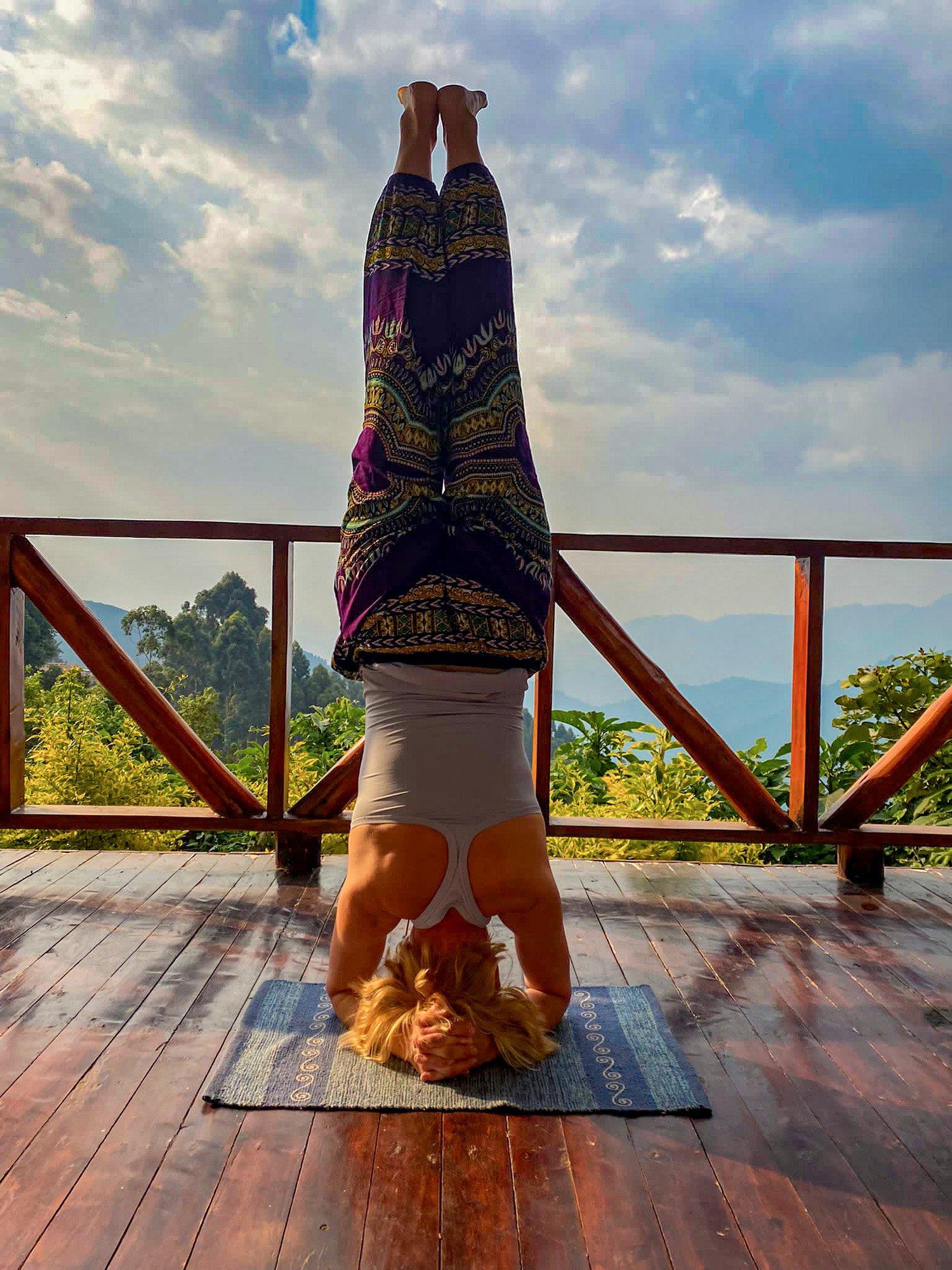 A Yoga Evening at Nkuringo Bwindi Lodge